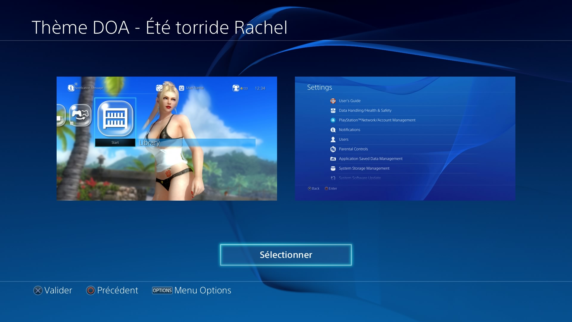 dead or alive 5 t torride rachel t l charger un th me ps4 personnalis. Black Bedroom Furniture Sets. Home Design Ideas