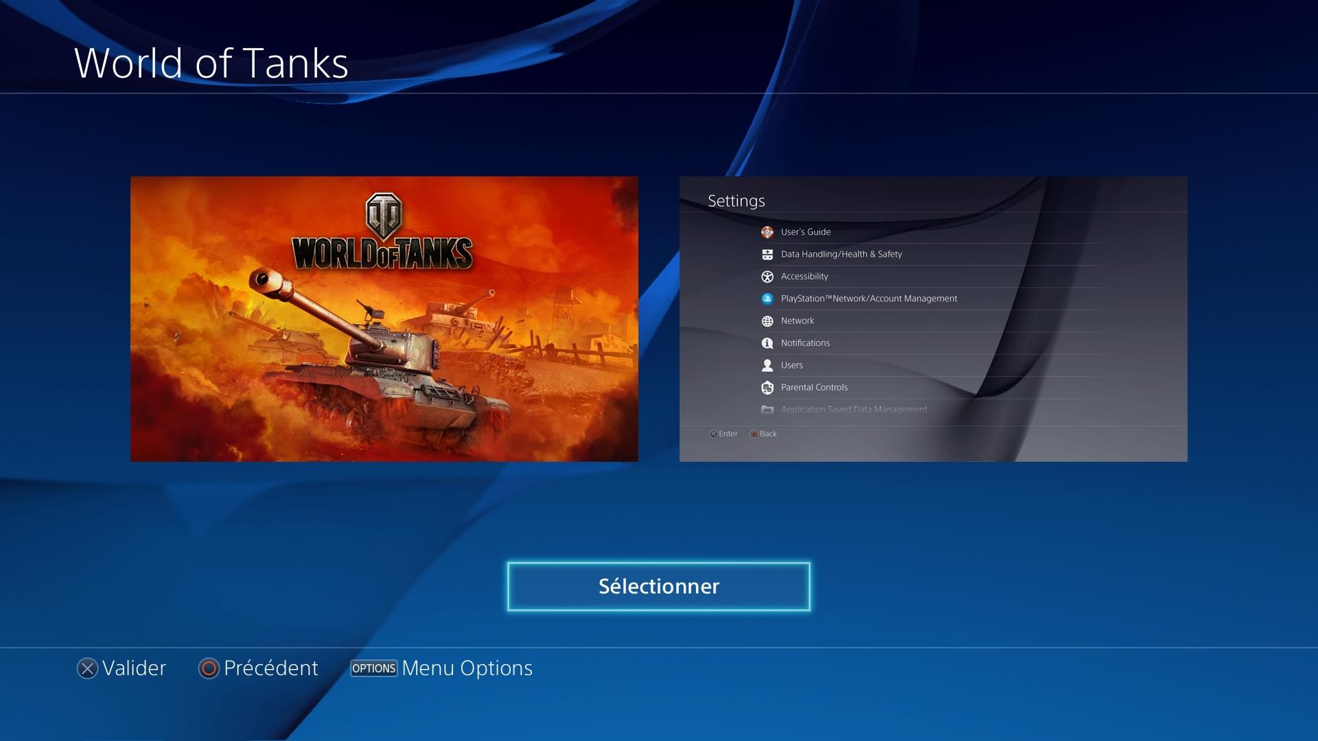World of Tanks - Télécharger un thème PS4 personnalisé